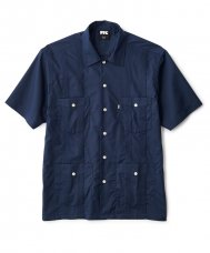 <img class='new_mark_img1' src='//img.shop-pro.jp/img/new/icons5.gif' style='border:none;display:inline;margin:0px;padding:0px;width:auto;' />GUAYABERA SHIRT - NAVY