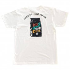 CHOCOLATEJESUS COFFEE BEGINS TEE (WHITE)