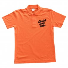 CHOCOLATE JESUS COFFEE POLO - ORANGE