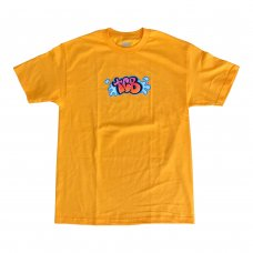 BUBBLE LETTER TEE - GOLD