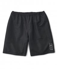 COLOR BLOCKED BEACH SHORT - BLACK