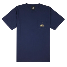 COMPASS POCKET TEE - NAVY