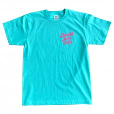 CHOCOLATEJESUS COFFEE TEE (AQUA/PINK)