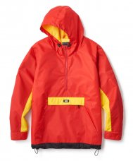 COLOR BLOCKED ANORAK JACKET - RED