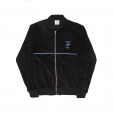 UNCLES VELOUR ZIP - BLACK