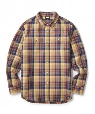 <img class='new_mark_img1' src='//img.shop-pro.jp/img/new/icons47.gif' style='border:none;display:inline;margin:0px;padding:0px;width:auto;' />HEAVY PLAID NEL B.D SHIRT - YELLOW