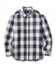 <img class='new_mark_img1' src='//img.shop-pro.jp/img/new/icons5.gif' style='border:none;display:inline;margin:0px;padding:0px;width:auto;' />HEAVY PLAID NEL B.D SHIRT - WHITE