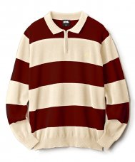 <img class='new_mark_img1' src='//img.shop-pro.jp/img/new/icons47.gif' style='border:none;display:inline;margin:0px;padding:0px;width:auto;' />STRIPED KNIT POLO - CREAM