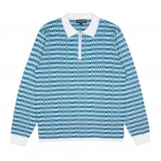 MBN 3/4 ZIP RUGBY (BLUE/WHITE)