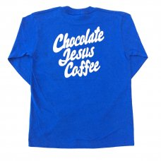 <img class='new_mark_img1' src='//img.shop-pro.jp/img/new/icons5.gif' style='border:none;display:inline;margin:0px;padding:0px;width:auto;' />CHOCOLATE JESUS COFFEE LOGO L/S TEE - ROYAL