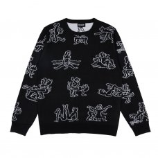 <img class='new_mark_img1' src='//img.shop-pro.jp/img/new/icons47.gif' style='border:none;display:inline;margin:0px;padding:0px;width:auto;' />NERMSUTRA KNIT SWEATER (BLACK)