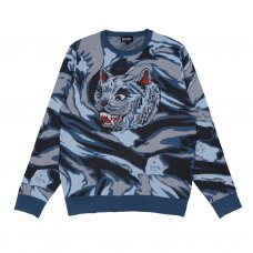<img class='new_mark_img1' src='//img.shop-pro.jp/img/new/icons5.gif' style='border:none;display:inline;margin:0px;padding:0px;width:auto;' />TIGER NERM KNIT SWEATER (LIGHT BLUE CAMO)