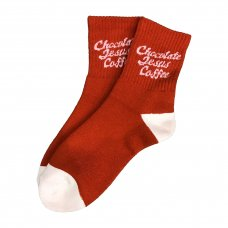 <img class='new_mark_img1' src='//img.shop-pro.jp/img/new/icons5.gif' style='border:none;display:inline;margin:0px;padding:0px;width:auto;' />COFFEE LOGO SOCKS (SHORT) - DARK RED