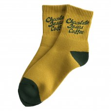 <img class='new_mark_img1' src='//img.shop-pro.jp/img/new/icons5.gif' style='border:none;display:inline;margin:0px;padding:0px;width:auto;' />COFFEE LOGO SOCKS (SHORT) - MUSTARD