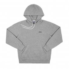 BLOCK LOGO HOODY (CHARCOAL HEATHER)