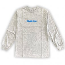 CHOCOLATE JESUS LOGO LONGSLEEVE TEE - GREY/BLUE