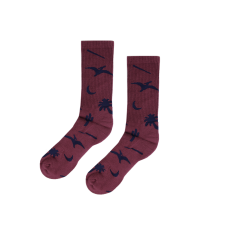 <img class='new_mark_img1' src='https://img.shop-pro.jp/img/new/icons5.gif' style='border:none;display:inline;margin:0px;padding:0px;width:auto;' />Prehistoric Socks - Crimson