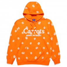 ALL OVER DAISY WORDMARK HOODIE - ORANGE