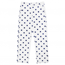 POLKA DOT PANTS - NAVY/WHITE