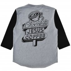 <img class='new_mark_img1' src='//img.shop-pro.jp/img/new/icons5.gif' style='border:none;display:inline;margin:0px;padding:0px;width:auto;' />COFFEE DINER SIGN RAGLAN - GREY/BLACK