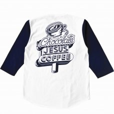 <img class='new_mark_img1' src='//img.shop-pro.jp/img/new/icons5.gif' style='border:none;display:inline;margin:0px;padding:0px;width:auto;' />COFFEE DINER SIGN RAGLAN - WHITE/NAVY