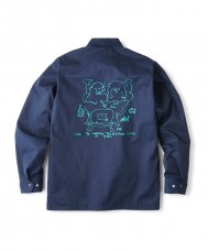 <img class='new_mark_img1' src='//img.shop-pro.jp/img/new/icons5.gif' style='border:none;display:inline;margin:0px;padding:0px;width:auto;' />WITH A GIRL COACH JACKET - NAVY