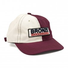 BRONZE TECHNOLOGIES PATCH HAT - OYSTER/BURGUNDY