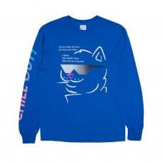 CHILL OUT L/S TEE (ROYAL BLUE)