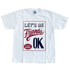 <img class='new_mark_img1' src='//img.shop-pro.jp/img/new/icons5.gif' style='border:none;display:inline;margin:0px;padding:0px;width:auto;' />LET'S BE FRIENDS TEE - WHITE