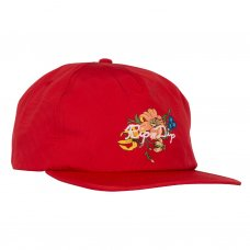 BLOOMING NERM NYLON 5 PANEL SNAPBACK (WATERMELON)