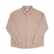 <img class='new_mark_img1' src='//img.shop-pro.jp/img/new/icons5.gif' style='border:none;display:inline;margin:0px;padding:0px;width:auto;' />POLAR FLEECE BUTTON UP SHIRT - CREAM