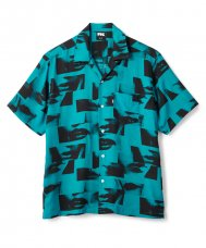<img class='new_mark_img1' src='//img.shop-pro.jp/img/new/icons5.gif' style='border:none;display:inline;margin:0px;padding:0px;width:auto;' />LIPS RAYON SHIRT - TEAL