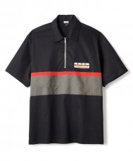 <img class='new_mark_img1' src='//img.shop-pro.jp/img/new/icons5.gif' style='border:none;display:inline;margin:0px;padding:0px;width:auto;' />HALF ZIP PIT CREW SHIRT - BLACK