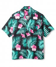 <img class='new_mark_img1' src='//img.shop-pro.jp/img/new/icons5.gif' style='border:none;display:inline;margin:0px;padding:0px;width:auto;' />FLORAL RAYON SHIRT - BLACK