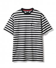 <img class='new_mark_img1' src='//img.shop-pro.jp/img/new/icons5.gif' style='border:none;display:inline;margin:0px;padding:0px;width:auto;' />STRIPED POCKET TERRY TEE - BLACK
