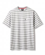 <img class='new_mark_img1' src='//img.shop-pro.jp/img/new/icons5.gif' style='border:none;display:inline;margin:0px;padding:0px;width:auto;' />STRIPED POCKET TERRY TEE - GRAY