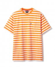 <img class='new_mark_img1' src='//img.shop-pro.jp/img/new/icons5.gif' style='border:none;display:inline;margin:0px;padding:0px;width:auto;' />STRIPED POCKET TERRY TEE - ORANGE