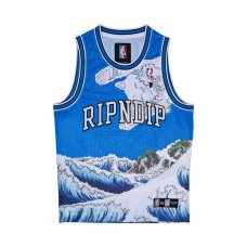 <img class='new_mark_img1' src='//img.shop-pro.jp/img/new/icons5.gif' style='border:none;display:inline;margin:0px;padding:0px;width:auto;' />GREAT WAVE MESH BASKETBALL JERSEY (BLUE)