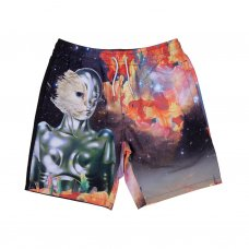 GALACTICA SWIM SHORTS (BLACK)