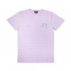 PEEK A NERMAL KNIT TEE (LAVENDER/LIME)