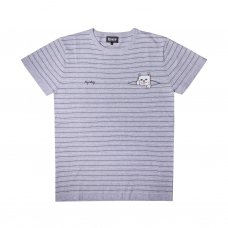 PEEK A NERMAL KNIT TEE (GREY/BLACK)