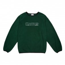 RAGLAN POLAR FLEECE CREWNECK - FOREST GREEN