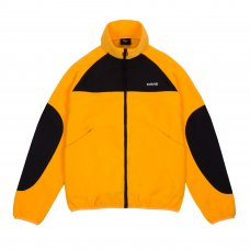 POLAR FLEECE TRACK JACKET - GOLD/BLACK