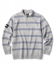 <img class='new_mark_img1' src='https://img.shop-pro.jp/img/new/icons5.gif' style='border:none;display:inline;margin:0px;padding:0px;width:auto;' />STRIPE HALF ZIP SWEATSHIRT - GRAY