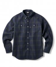 <img class='new_mark_img1' src='https://img.shop-pro.jp/img/new/icons5.gif' style='border:none;display:inline;margin:0px;padding:0px;width:auto;' />HEAVY PLAID NEL B.D SHIRT - NAVY