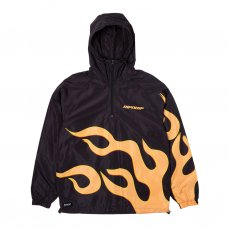 FLAMING HOT ANORAK JACKET - BLACK