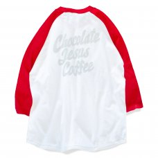 <img class='new_mark_img1' src='https://img.shop-pro.jp/img/new/icons5.gif' style='border:none;display:inline;margin:0px;padding:0px;width:auto;' />COFFEE RAGLAN - WHITE/RED