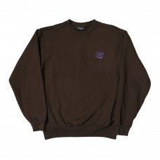 <img class='new_mark_img1' src='https://img.shop-pro.jp/img/new/icons47.gif' style='border:none;display:inline;margin:0px;padding:0px;width:auto;' />EMBROIDERED B LOGO CREWNECK - CHOCOLATE