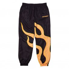 FLAMING HOT TRACK PANTS - BLACK