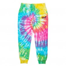NERM & JERM SHOW SWEAT PANTS - RAINBOW SPIRAL DYE